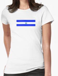 El Salvador Logo-Bandera Womens Fitted T-Shirt