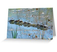 Family Reunion Invitation Greeting - Turtles Greeting Card