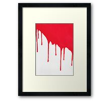 Blood Drenched painting Framed Print