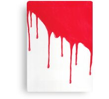 Blood Drenched painting Canvas Print