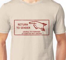 Postage Stamp. Return to Sender Unisex T-Shirt