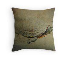 Turtle Emerging Throw Pillow