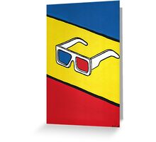 3D Glasses Painting Greeting Card