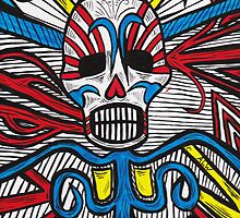Mexican Skull Vines Painting by Fangpunk