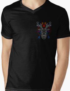 Pale geometric deer head Mens V-Neck T-Shirt