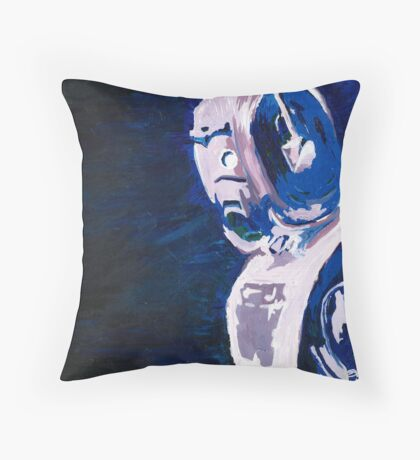 Excellent Leader - Cyberman Painting Throw Pillow