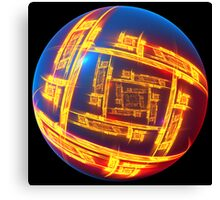Electronic China Orb Canvas Print