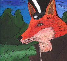 Mr. Fox Painting by Fangpunk