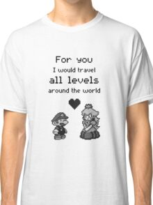 Pixel Mario and Peach Classic T-Shirt
