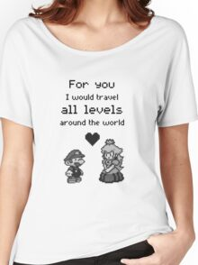 Pixel Mario and Peach Women's Relaxed Fit T-Shirt