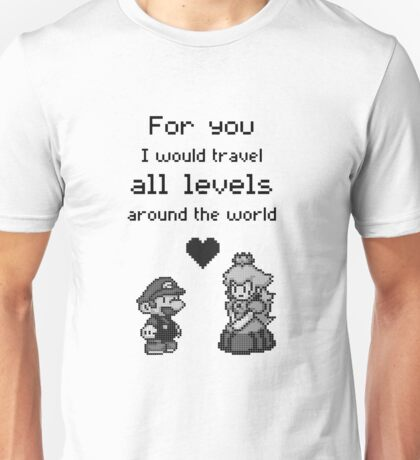 Pixel Mario and Peach Unisex T-Shirt