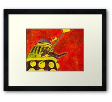 Exterminate - Dalek Painting Framed Print