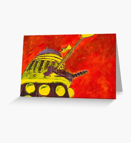 Exterminate - Dalek Painting Greeting Card