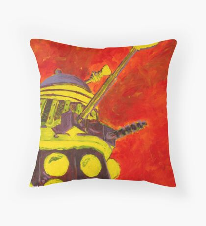 Exterminate - Dalek Painting Throw Pillow