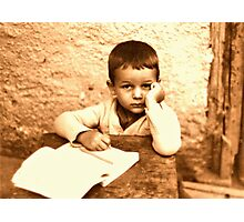 Portrait of the Artist as a Child Photographic Print