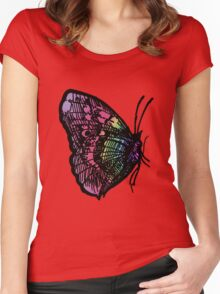 Butterfly Number 1 Adults Women's Fitted Scoop T-Shirt
