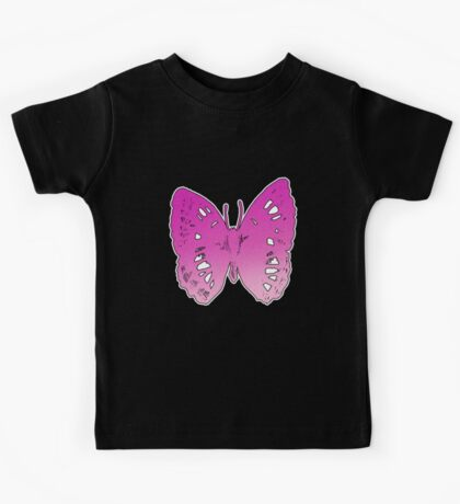 Butterfly Number 2 Childrens Kids Tee