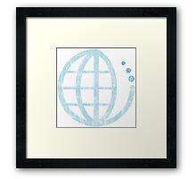 ecoecho : conserve water Framed Print