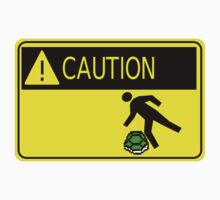 Tripping Shell Caution Sign by Roberto A Camacho