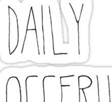 "ThatcherJoe ""I'm Not A Daily Vlogger"" Designs  Sticker"