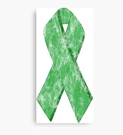 green ribbon Canvas Print