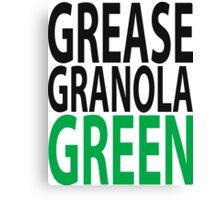 grease granola GREEN! Canvas Print