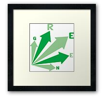 go GREEN! Framed Print