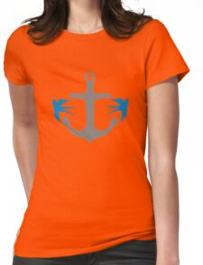 Anchor and Swallows Womens Fitted T-Shirt