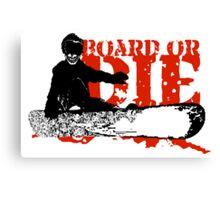 skeleboarder board or die Canvas Print