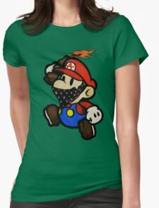 Anarchist Mario Womens Fitted T-Shirt