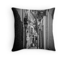 Streets of Seville BW Throw Pillow