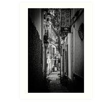 Streets of Seville BW Art Print
