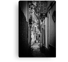 Streets of Seville BW Canvas Print