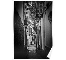 Streets of Seville BW Poster