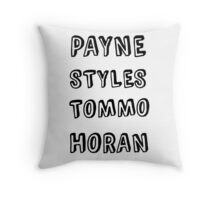 One Direction Last Name Design Throw Pillow