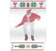 Christmas Bling - Santa Poster
