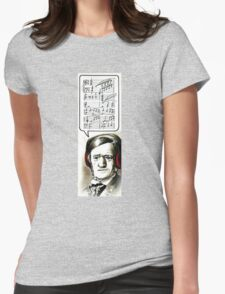 Hipster Richard Wagner Womens Fitted T-Shirt