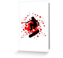 skateboard bubbles Greeting Card