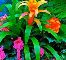 Fall Garden Blossom, Butchart Gardens, BC by Thomas Barber