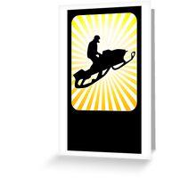 snowmobile sun rays Greeting Card