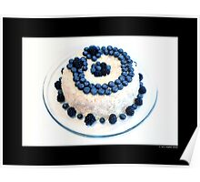 Cream Cheese Blueberry And Blackberry Bundt Cake With Recipe Poster