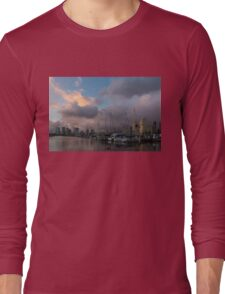 Tropical Storm Skies Over Ala Wai Harbor in Honolulu, Hawaii Long Sleeve T-Shirt
