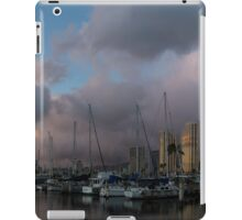 Tropical Storm Skies Over Ala Wai Harbor in Honolulu, Hawaii iPad Case/Skin