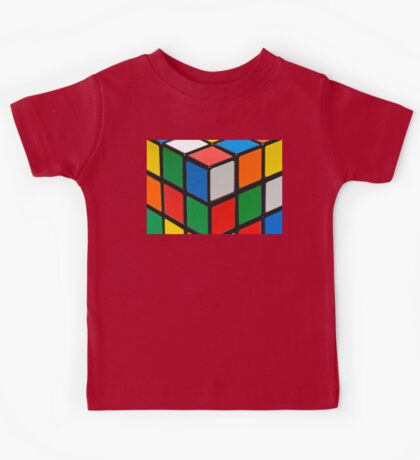 Colourful Cubes Kids Tee