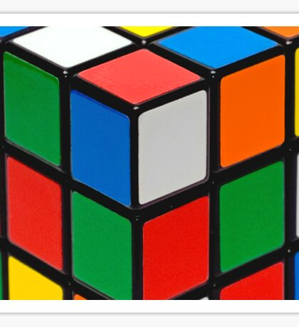 Colourful Cubes Sticker