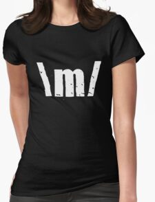 \m/ Womens Fitted T-Shirt