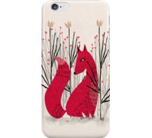 Fox in Shrub iPhone Case/Skin