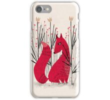 Fox in Shrub iPhone Case/Skin