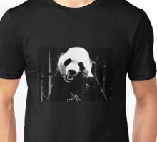 Cute Giant Panda Bear with tasty Bamboo Leaves Unisex T-Shirt