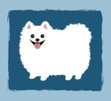Fluffy White Pomeranian Kids Tee